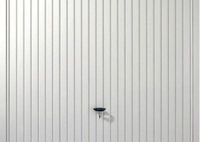 White Vertical Panel Up and Over Garage Door