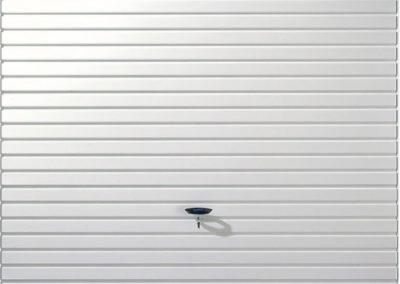 White Horizontal Panel Up and Over Garage Door