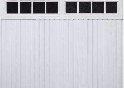 White Windowed Up and Over Garage Door